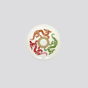 ancient chinese dragon design 3 Mini Button