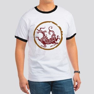ancient chinese dragon design 2 Ringer T