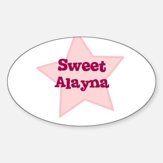 Sweet Alayna Oval Decal