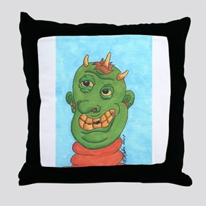 Ghastly Ghoul Throw Pillow