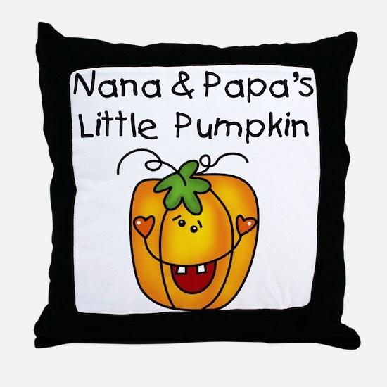Nana and Papa's Pumpkin Throw Pillow