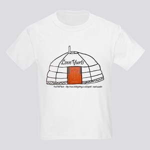 Love Yurts Kids Light T-Shirt