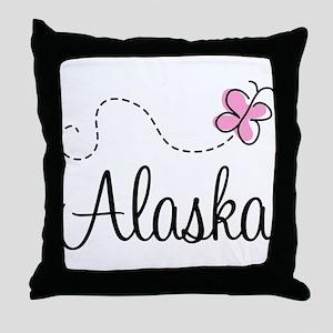 Pretty Alaska Throw Pillow