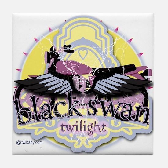 Black Swan Twilight Tile Coaster