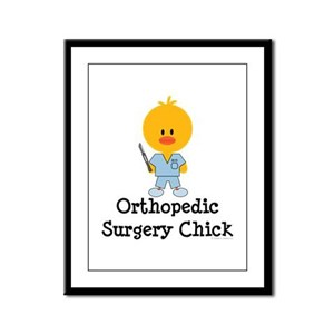 Orthopedic Surgery Chick Framed Panel Print