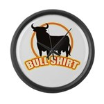 Bull shirt Large Wall Clock