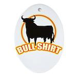 Bull shirt Oval Ornament