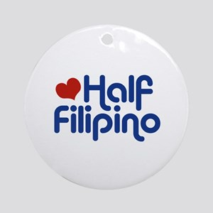 Half Filipino Ornament (Round)