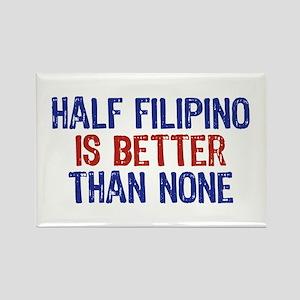 Half Filipino Rectangle Magnet