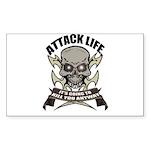 Attack life Rectangle Sticker 10 pk)