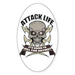 Attack life Oval Sticker
