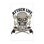 Attack life Rectangle Sticker