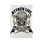 Attack life Rectangle Magnet