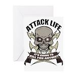 Attack life Greeting Card