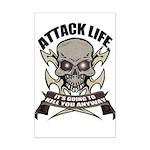 Attack life Mini Poster Print