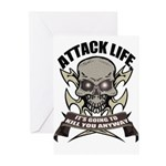 Attack life Greeting Cards (Pk of 10)
