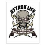 Attack life Small Poster