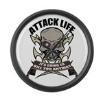 Attack life Large Wall Clock