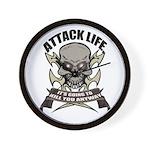 Attack life Wall Clock
