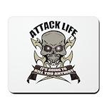 Attack life Mousepad