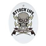 Attack life Oval Ornament