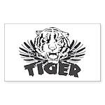 Tiger Rectangle Sticker 10 pk)