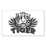Tiger Rectangle Sticker 10 pk)