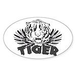 Tiger Oval Sticker (10 pk)