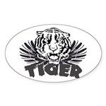 Tiger Oval Sticker (10 pk)