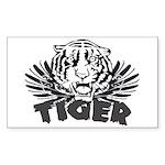 Tiger Rectangle Sticker