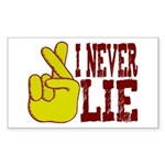 Lie Rectangle Sticker