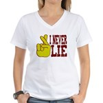 Lie Women's V-Neck T-Shirt