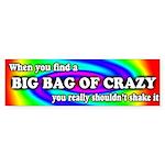 Big Bag of Crazy Bumper Sticker (10 pk)