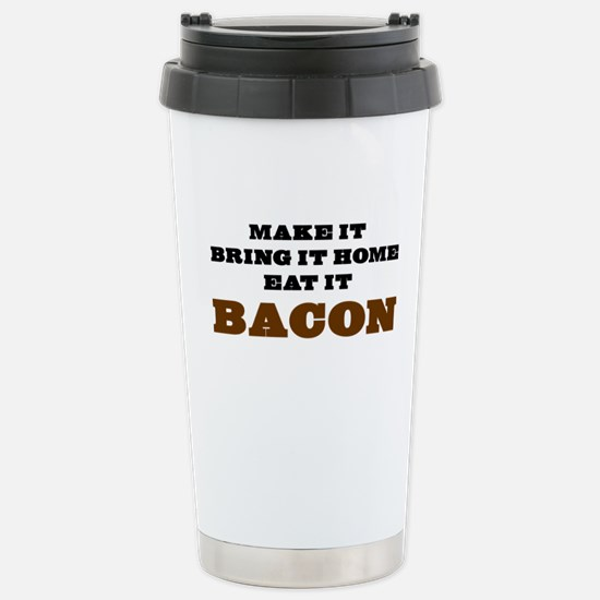 Bacon Stainless Steel Travel Mug