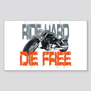 Ride hard Rectangle Sticker