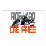 Ride hard Rectangle Sticker