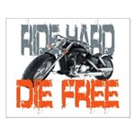 Ride hard Small Poster