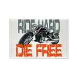 Ride hard Rectangle Magnet (10 pack)