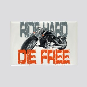Ride hard Rectangle Magnet