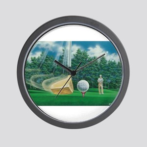 Fore! Golf Swing In Motion Wall Clock