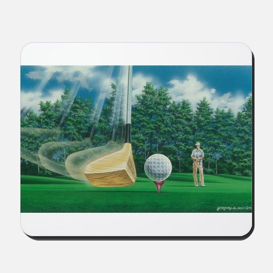 Fore! Golf Swing In Motion Mousepad