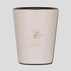 Let It Bee Funny Beekeeping Birthday Gi Shot Glass