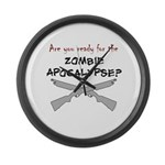 Are you ready for the zombie Large Wall Clock