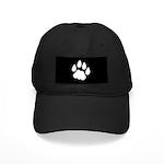 Cat (Cougar Bobcat) Track Pawprint Black Cap