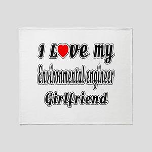 I Love My Environmental engineer Gir Throw Blanket