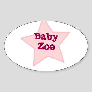 Baby Zoe Oval Sticker