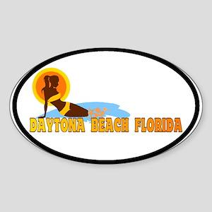 Daytona Beach FL Oval Sticker