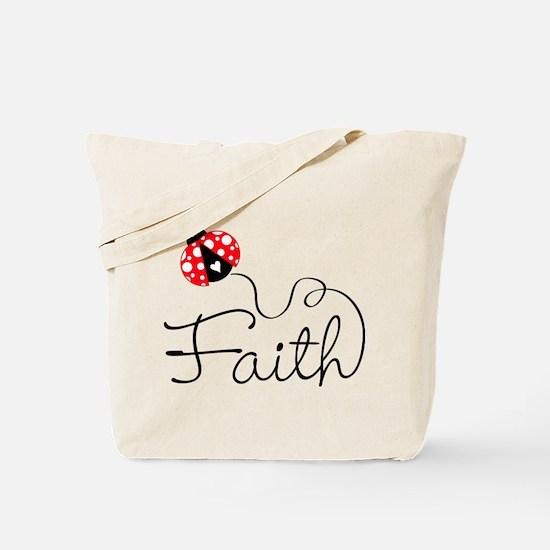 Ladybug Faith Tote Bag