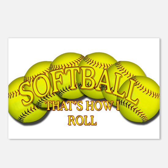 Softballs roll Postcards (Package of 8)