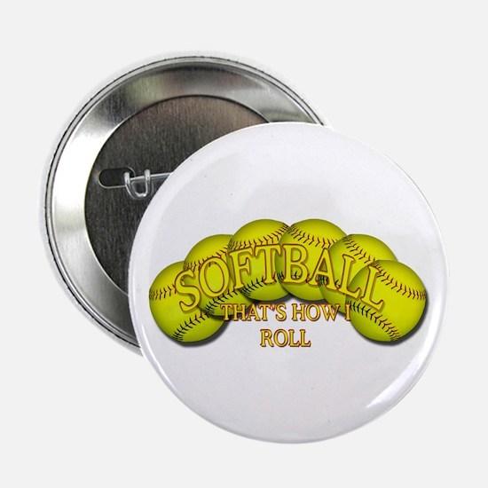 """Softballs roll 2.25"""" Button"""